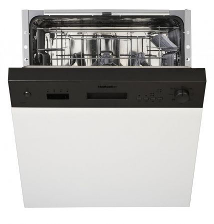 Montpellier Black Semi Integrated Dishwasher