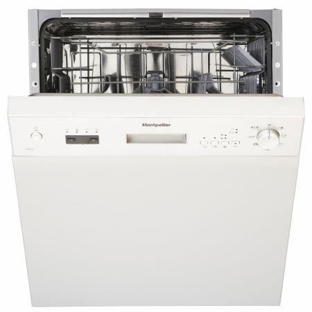 Montpellier White Semi Integrated Dishwasher