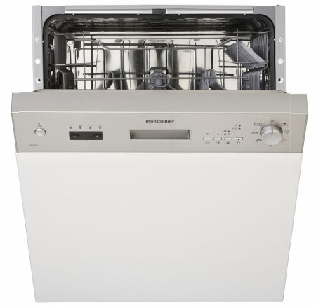 Montpellier Stainless Steel Semi Integrated Dishwasher