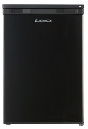 Lec Black 55cm Under Counter Fridge With 4* Icebox Freezer