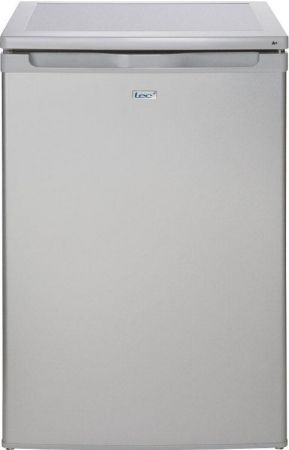 Lec Silver 55cm Under Counter Fridge With 4* Freezer
