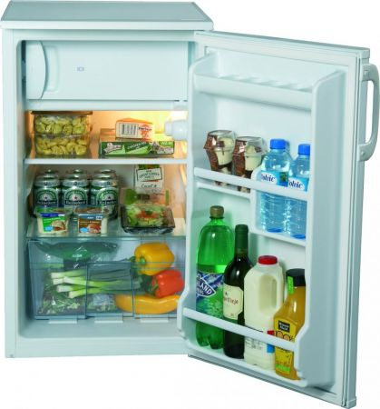 Lec 50cm White Under Counter Fridge With Ice Box