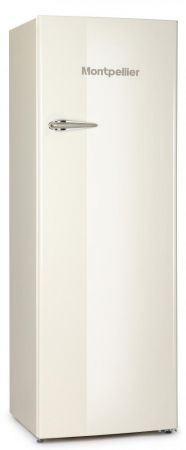 Montpellier Cream Retro Style Tall Fridge With 4*Icebox