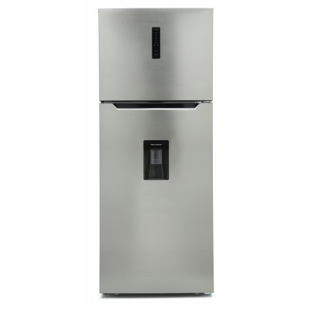 Montpellier Inox No Frost Top Mount Fridge Freezer With Drinks Dispenser
