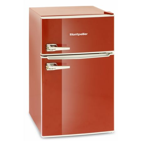 Montpellier Undercounter Retro Style Red Fridge Freezer