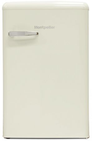 Montpellier Cream Retro Style Under Counter Ice Box Fridge
