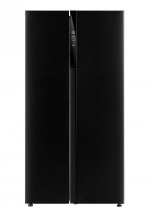 Montpellier Black Side By Side Fridge Freezer With Recessed Habdle Design