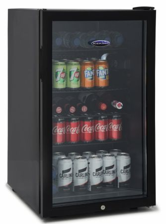 Iceking Black 115Ltr Drinks Chiller