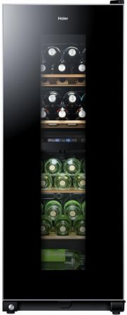 Haier Black 46 Bottle Wine Cooler