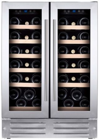 Montpellier Stainless Steel Dual Zone Wine Chiller