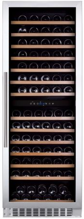 Montpellier Stainless Steel Dual Zone 166 Bottle Capacity Wine Chiller