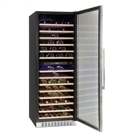 Montpellier Stainless Steel Dual Zone 181 Bottle Capacity Wine Chiller