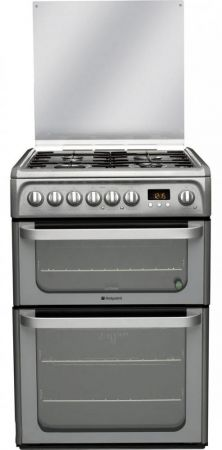 Hotpoint Ultima Graphite 60cm Dual Fuel Cooker With Double Oven