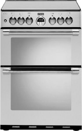 Stoves Sterling Stainless Steel Dual Fuel Mini Range Cooker With Double Oven