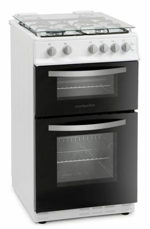 Montpellier White Twin Cavity Lidded Gas Cooker