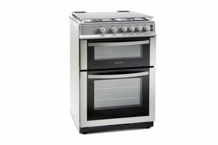 Montpellier Silver 60cm Double Gas Cooker