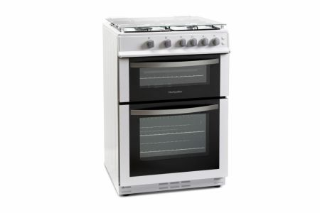 Montpellier White 60cm Double Gas Cooker