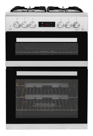 Beko Silver 60cm Gas Cooker With Double Oven
