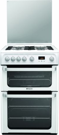 Hotpoint Ultima 60cm White Gas Cooker With Double Oven
