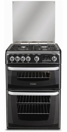 Cannon By Hotpoint Carrick Black Gas Cooker With Double Oven