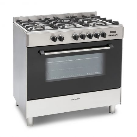 Montpellier Stainless Steel 9cm Single Cavity Dual Fuel Range Cooker