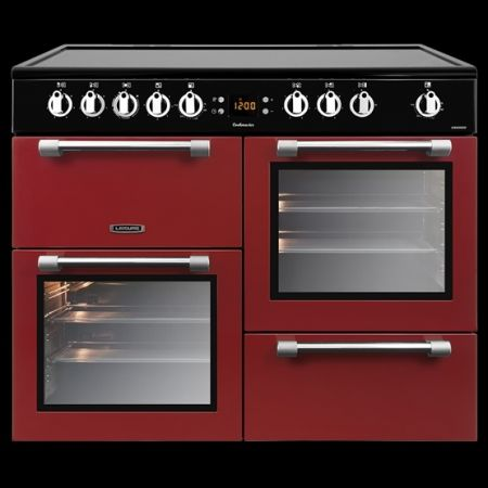 Leisure Red 100cm Electric Range Cooker With Ceramic Hob