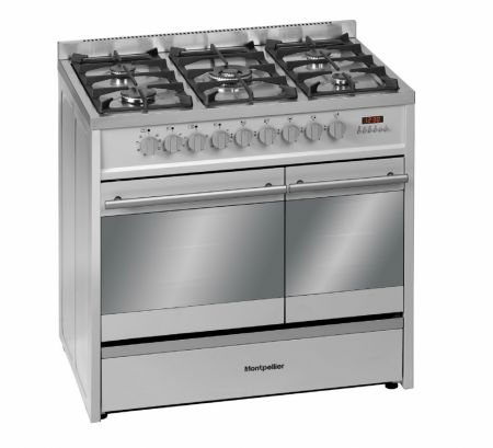 Montpellier Stainless Steel 900Cn Dual Fuel Range Cooker
