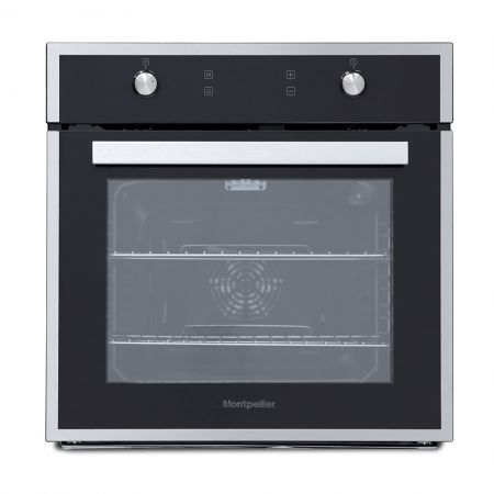 Montpellier Black With Stainless Steel Trim Single Multifunction Oven