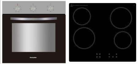 Montpellier Electric Oven And Ceramic Hob Pack