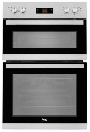 Beko Integrated Stainless Steel Built In Double Fan Oven