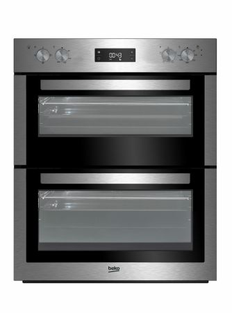 Beko Stainless Steel Built Under Double Fan Oven