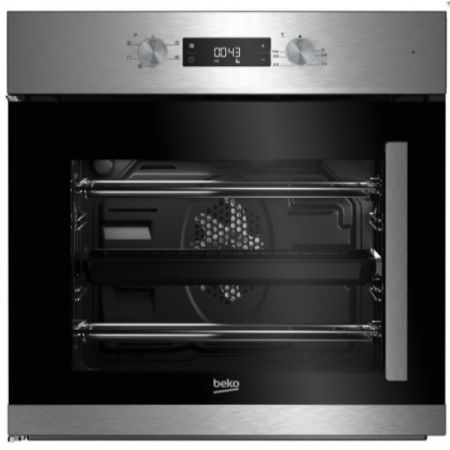 Beko Integrated Steel Single Multifunction Oven Left Hinge