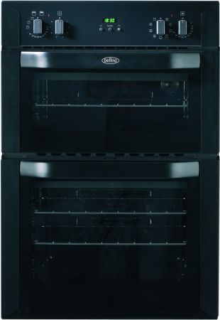 Belling Black Built In Double Electric Multifunction Oven
