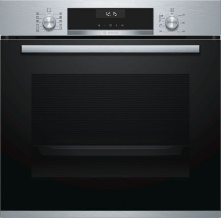 Bosch Serie 6 Brushed Steel Single Fan Oven