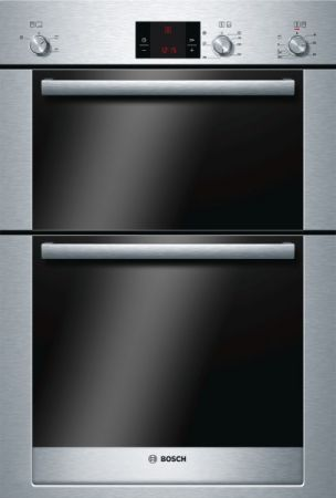Bosch Exxcel Brushed Steel Built In Double Hot Air Oven