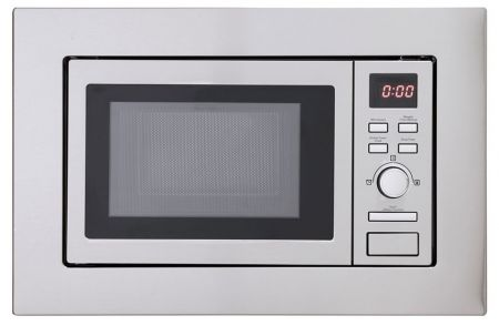 Montpellier Stainless Steel Slim Depth Built In Solo Microwave
