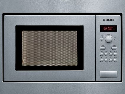 Bosch Brushed Steel Built In Compact Electronic Microwave Oven For A 50cm Wide Unit