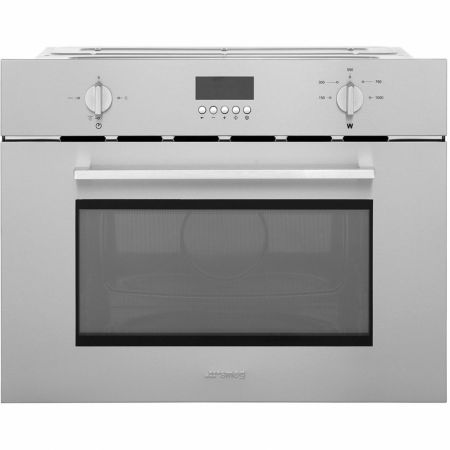 Smeg Stainless Steel Built In Microwave With Grill