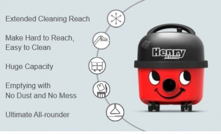 Henry Extend 620W 6L Cylinder Cleaner With 1.5M Hose And Multi Angle Tool