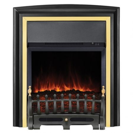 Focal Point Lycia Brass/Black Led Freestanding Or Inset Electric Fire