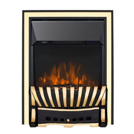 Focal Point Elegance Antique Brass Led Freestanding Or Inset Electric Fire