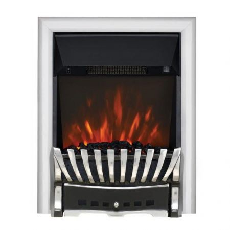 Focal Point Chrome Led Freestanding Or Inset Electric Fire