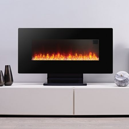 Focal Point Columbus Led Black Wall Hung Or Freestanding Electric Fire
