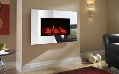 Focal Point Charmouth Led Mirrored Glass Wall Hung Electric Fire