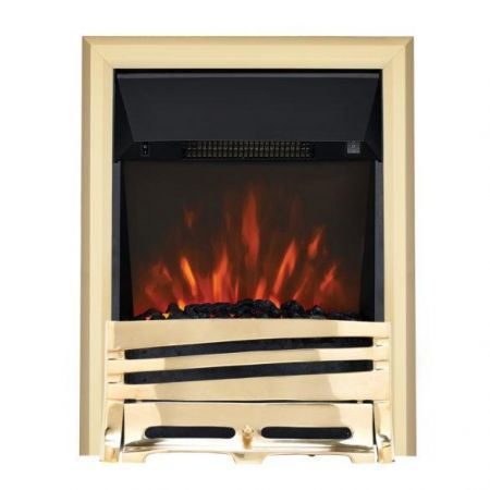 Focal Point Horizon Brass Led Freestanding Or Inset Electric Fire
