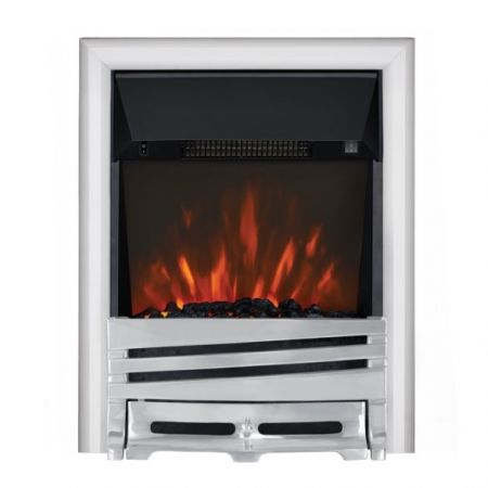 Focal Point Horizon Chrome Led Freestanding Or Inset Electric Fire