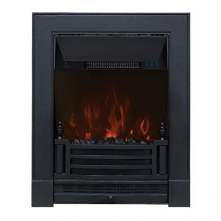 Focal Point Finsbury Black Led Freestanding Or Inset Electric Fire