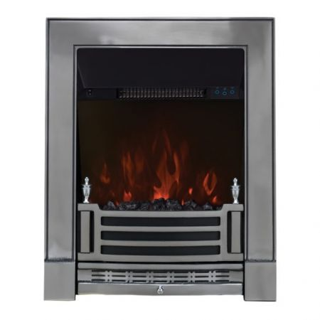 Focal Point Finsbury Chrome Led Freestanding Or Inset Electic Fire