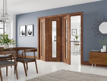 Bifold Frame Kit Prefinished Walnut Bifold Doors