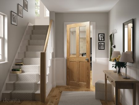 Bury Prefinished Oak Bevelled Glaze FSC Doors